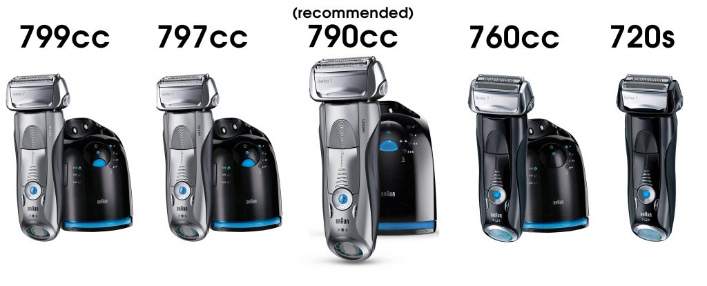 braun series 7 all models comparison