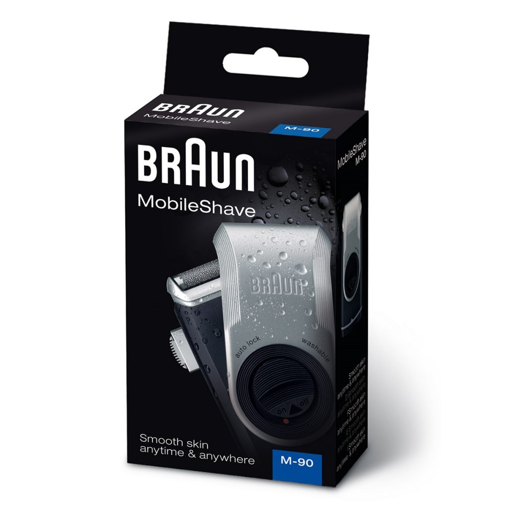 Braun M90 Mobile Shaver, 1 Count packaging