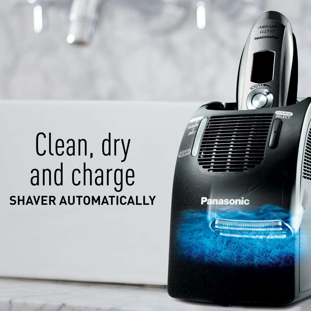 panasonic shaver cleaning station