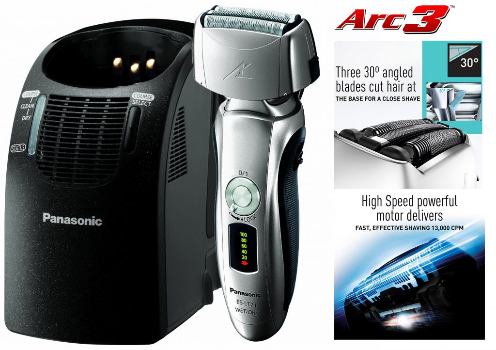 Arc3 3-Blade Shaver w/ Auto Cleaner ES-LT71-S and features