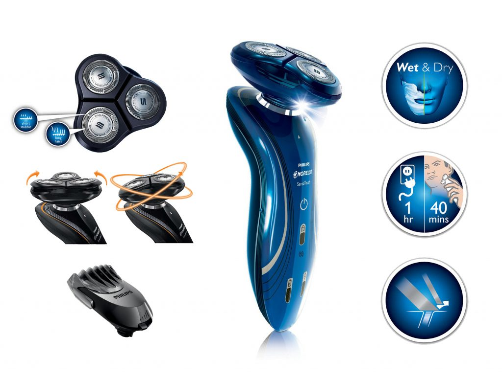 Philips Norelco Shaver Model 1150BT48 features