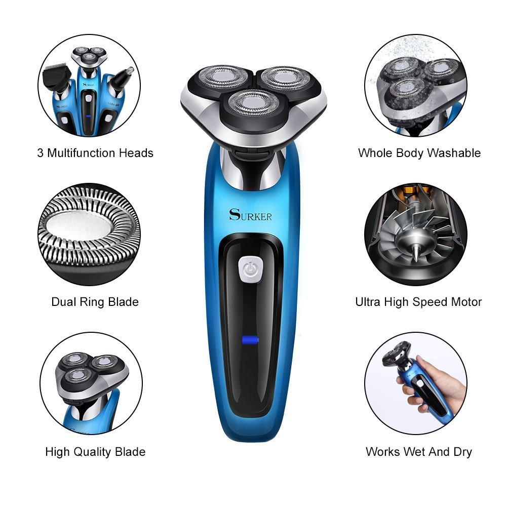 SURKER Electric Shaver (9598-RSCX) Introduction