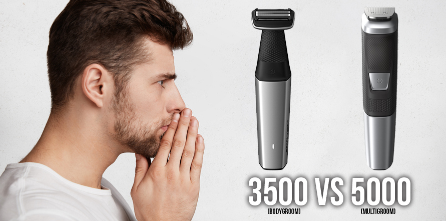 Philips Norelco Bodygroom Series 3500 vs Philips Norelco Multigroom 5000