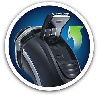 Philips Norelco Shaver 4100 popup trimmer