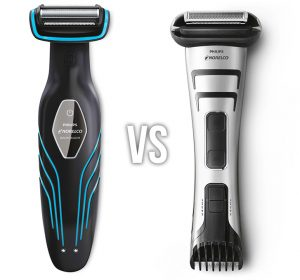 norelco bodygroom 3100 vs 7100