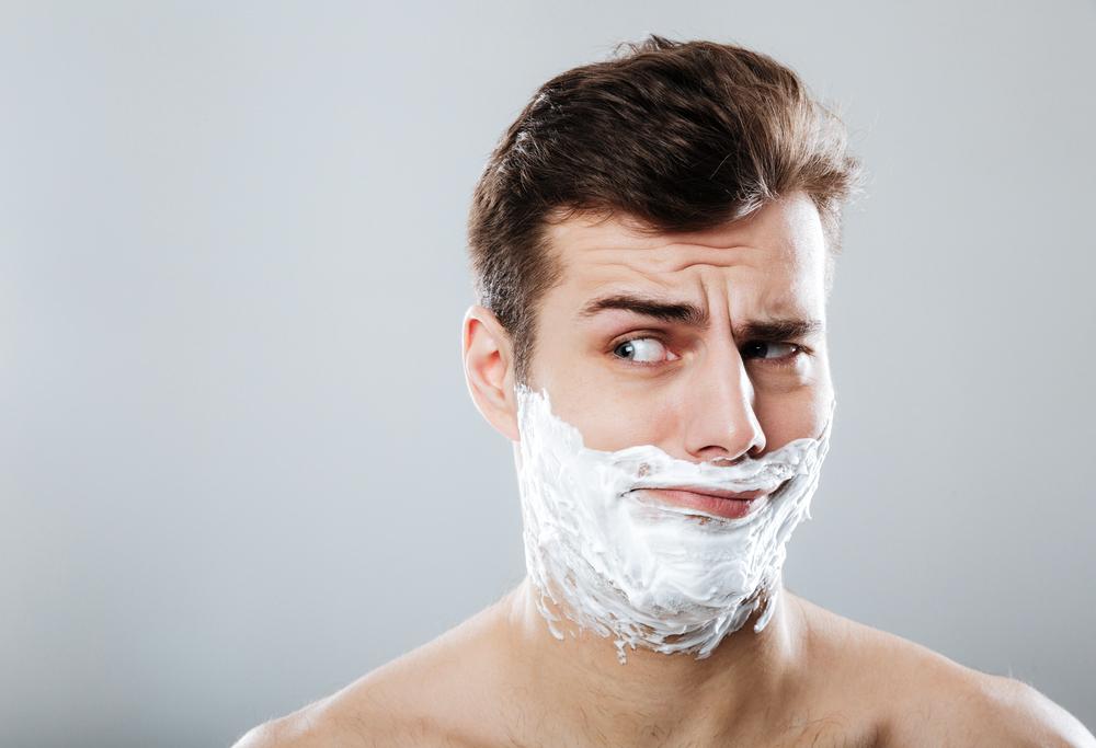 shaving with cream