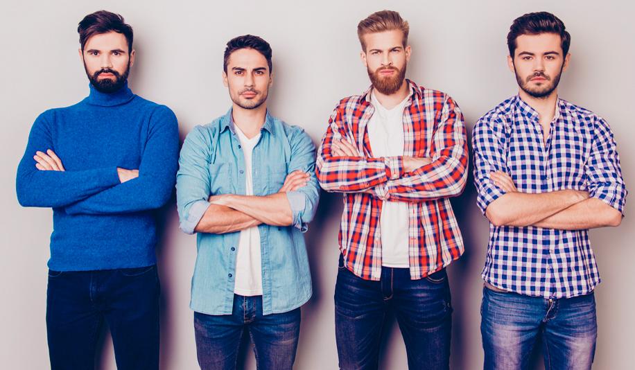 friends beards vs without beard