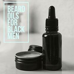black men beard oil