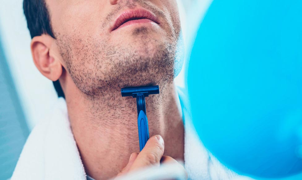shaving irritation on neck