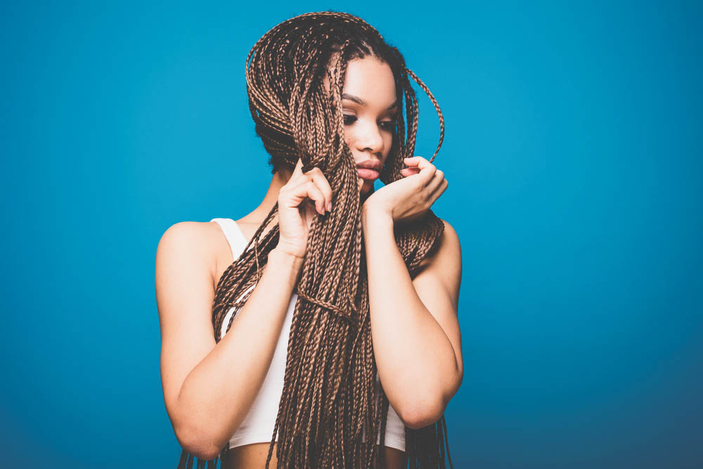 african american woman with braids