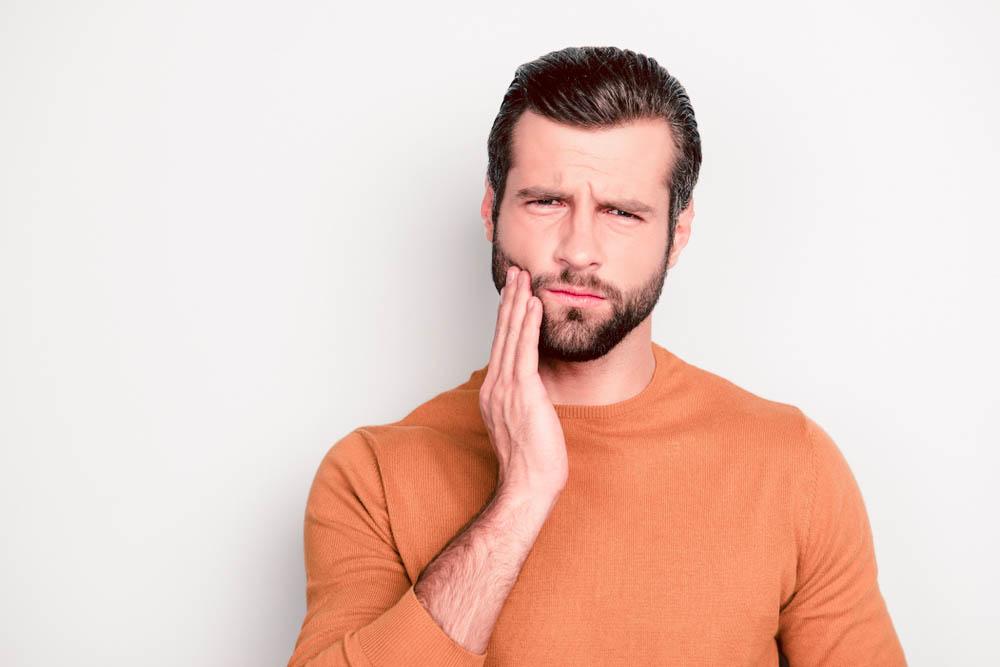 dental infection effect on beard