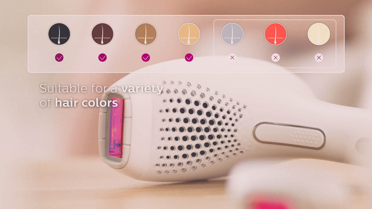 hair colors with which Philips Lumea SC2009 can be used