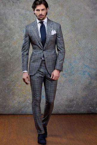 Blue Suede Tassel Loafers Formal Look