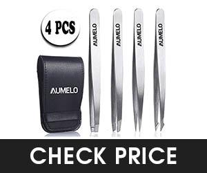 5 - AUMELO 4-Piece Tweezers Set