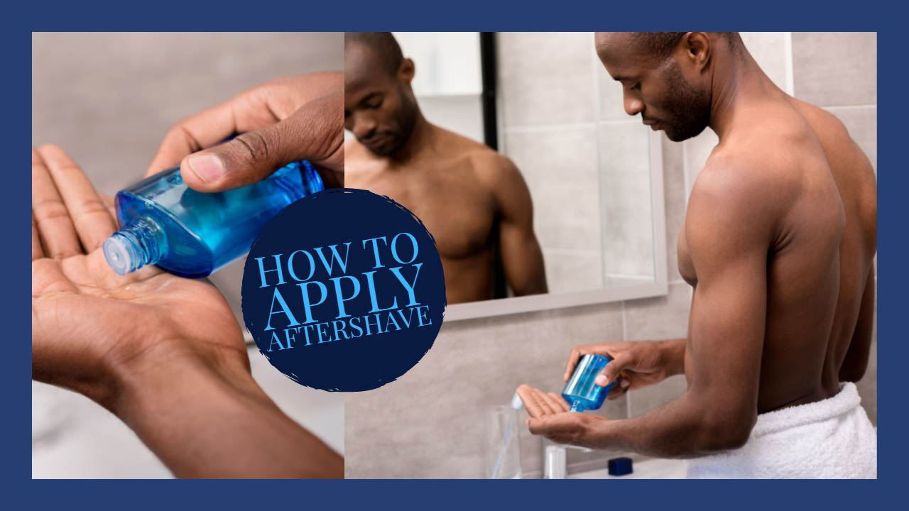 how to apply aftershave