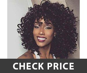 N&T Short Black Kinky Curly Wig