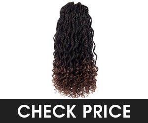 Firstcyh Hair Curly Ends Synthetic Braiding Hair