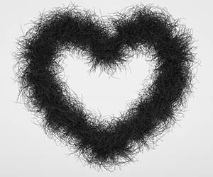 heart shape pubic hair