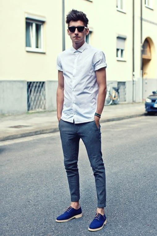 derby shoes casual look
