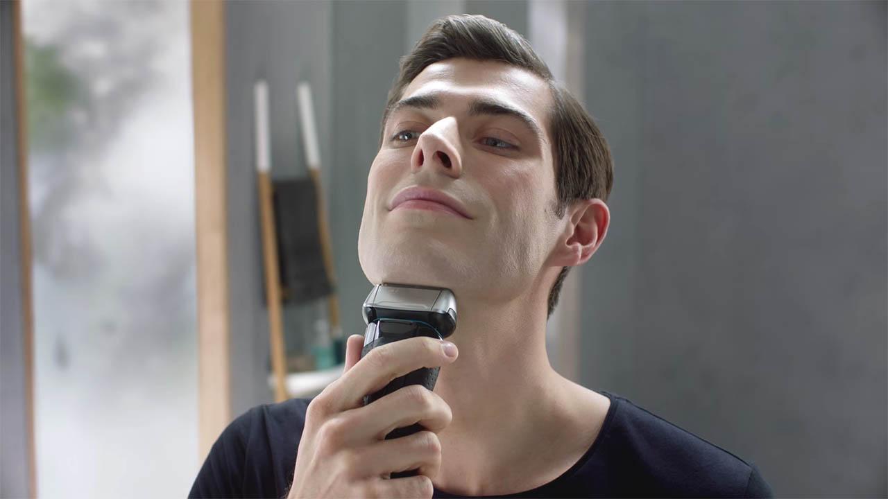 shaved beard look with braun 5145s