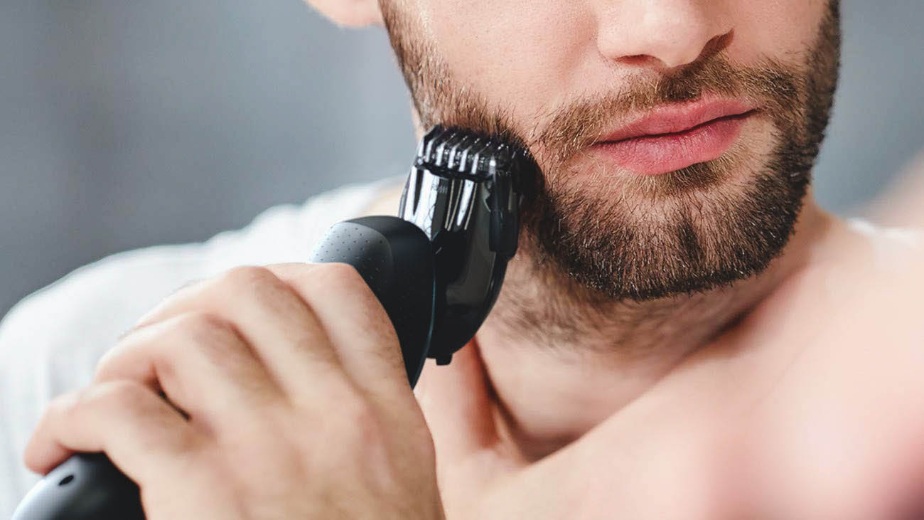 trimming beard with philips norelco 6800
