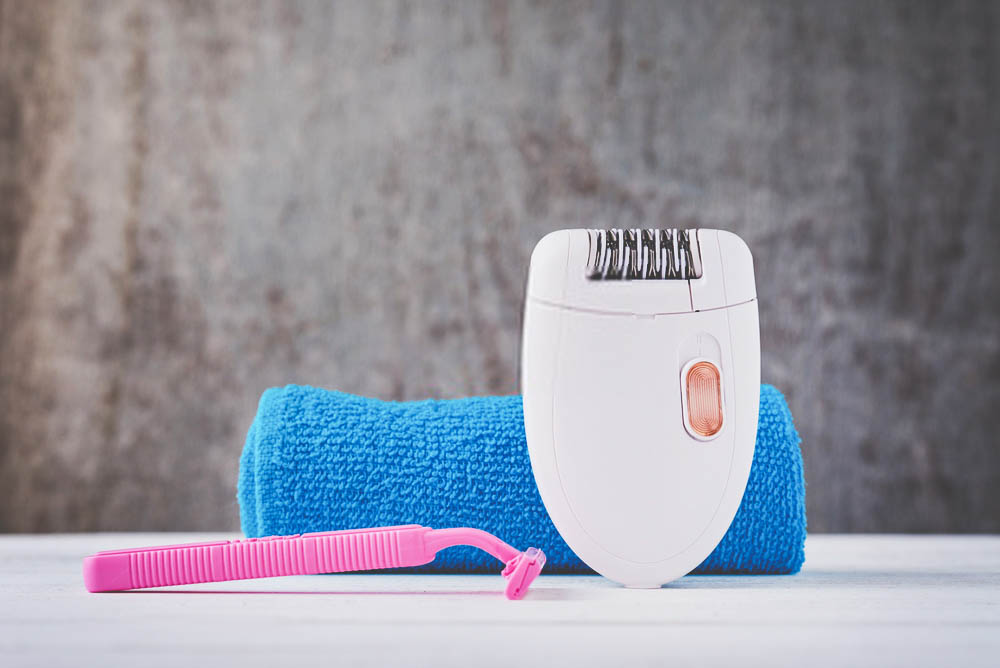 use of epilator for bald head