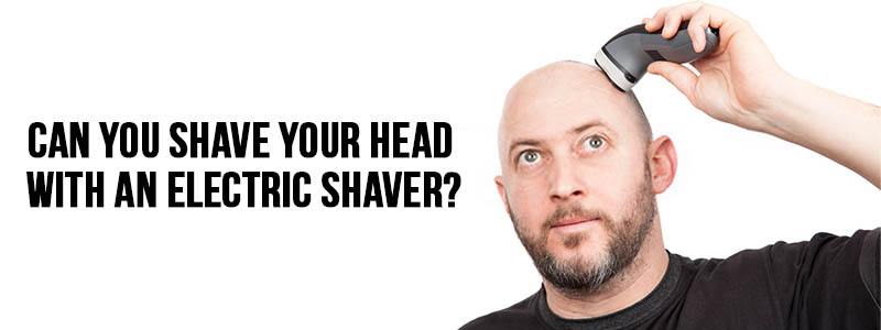 shaving head with an electric shaver