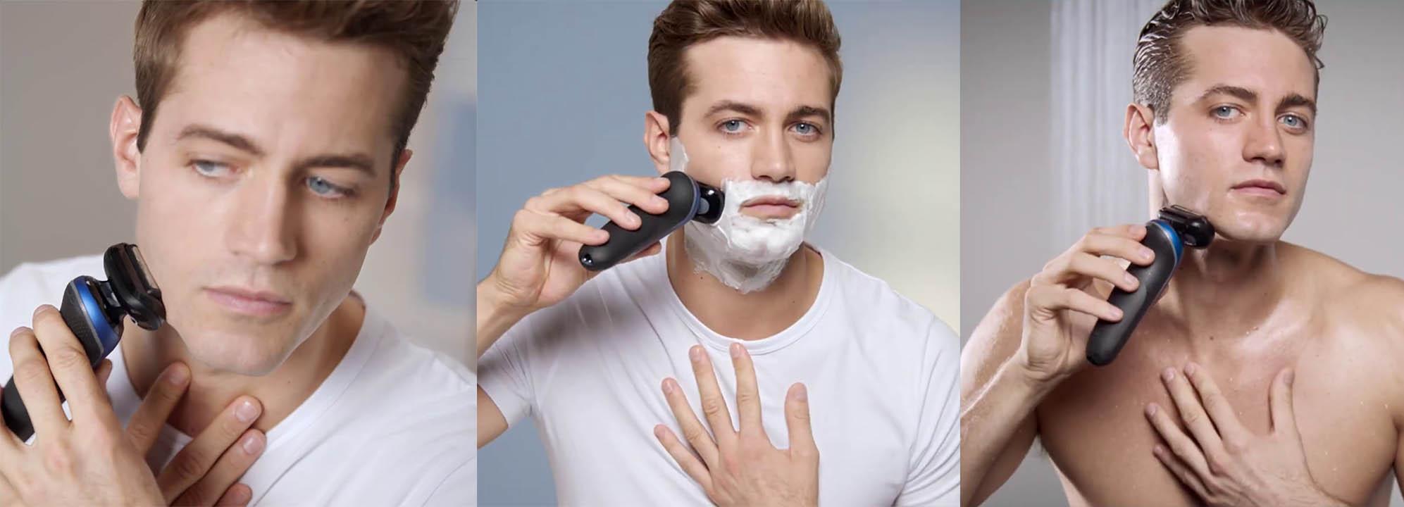 wet & dry shaving with braun 6020s