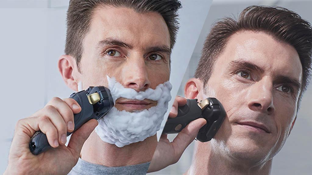 shaving with panasonic shavers