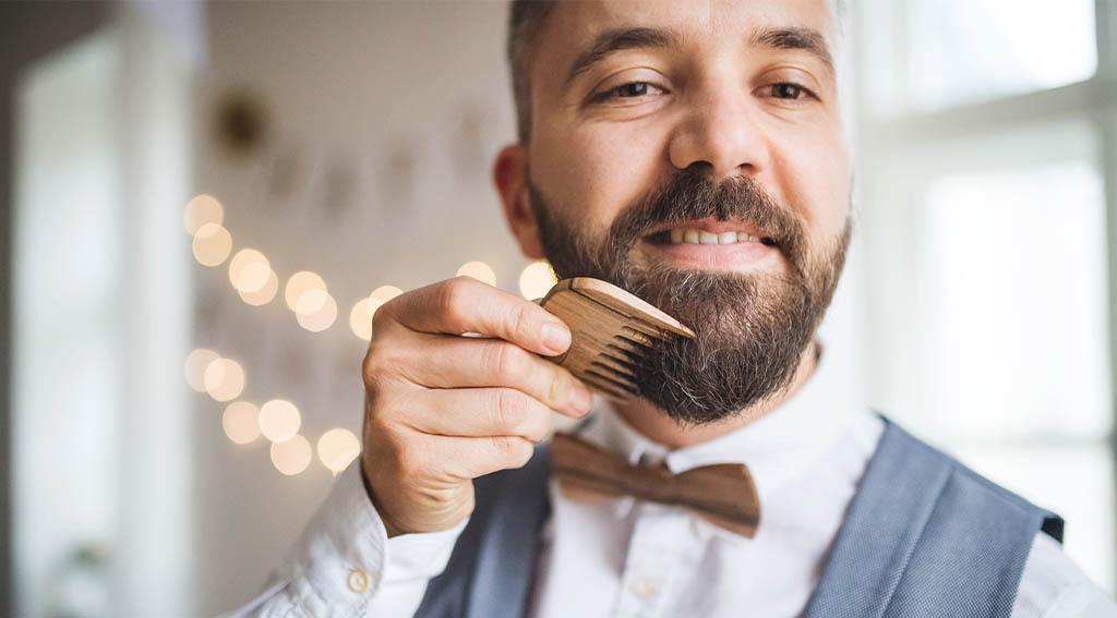coming beard after applying beard balm