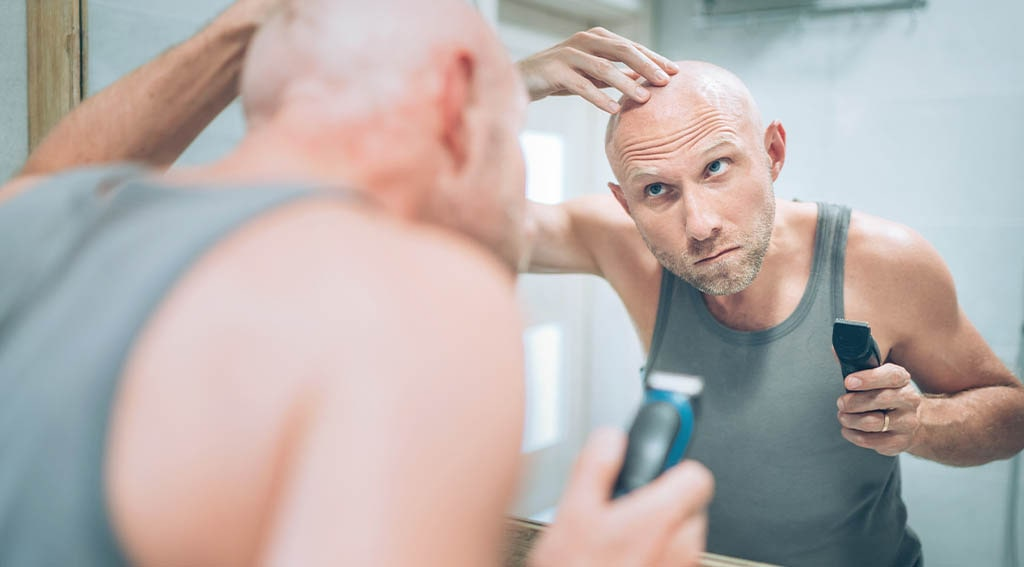 shaving head with an electric razor