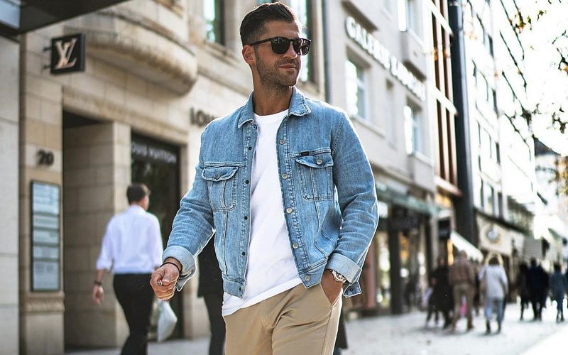 Jean Jacket and White Shirt