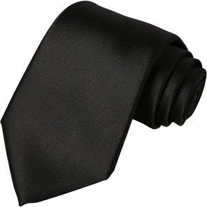 KissTies Solid Satin Tie Pure Color Necktie Mens Ties