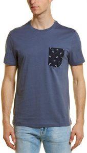 Penguin Bike-Print Pocket T-Shirt