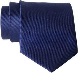 QBSM Mens Solid Polyester Textile Neckties Pure Color Neck Ties