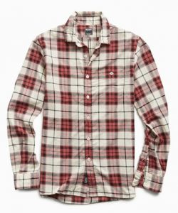 Todd Snyder Portuguese Red Plaid Flannel Shirt