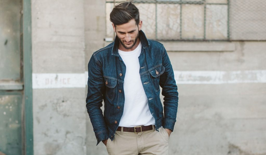 Wear a denim jean jacket