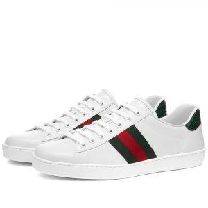 White Gucci New Ace