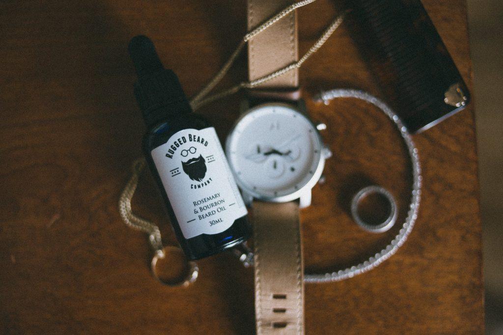 bottle of beard oil
